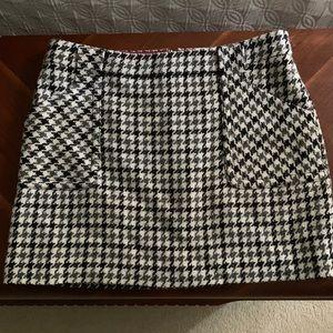 J crew Herringbone wool mini skirt